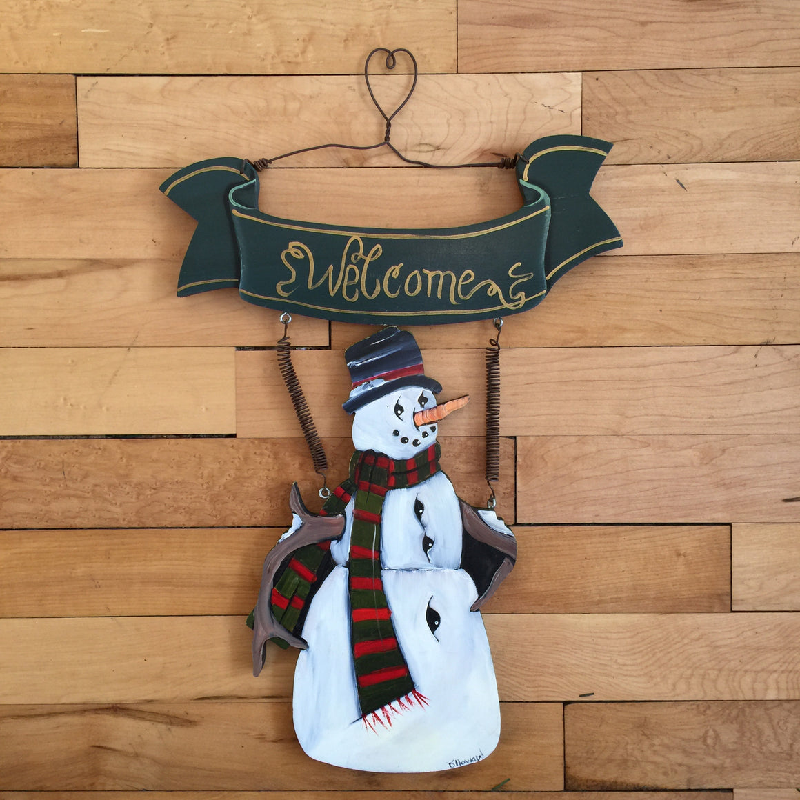 Wall Hanging - Welcome Snowman