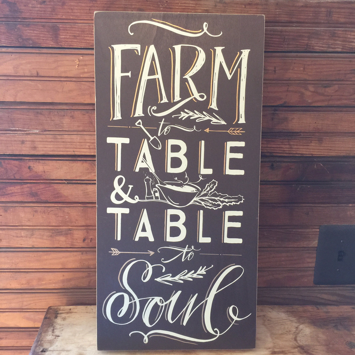 Box Sign - Farm to Table & Table to Soul