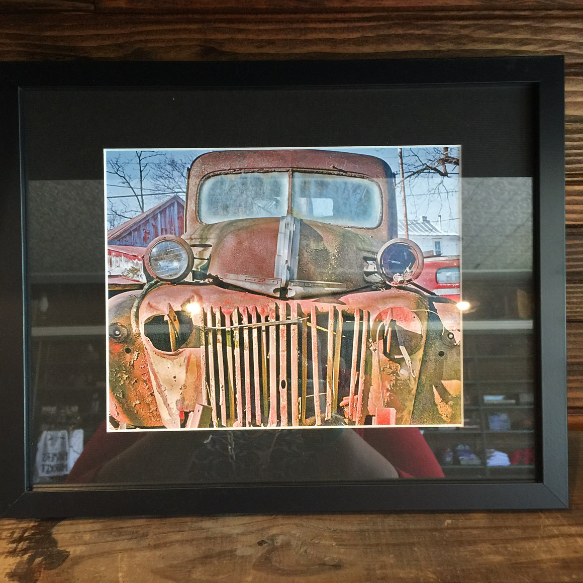 "Framed Photograph by James DeBuchananne - ""Rusty Ford Truck"""