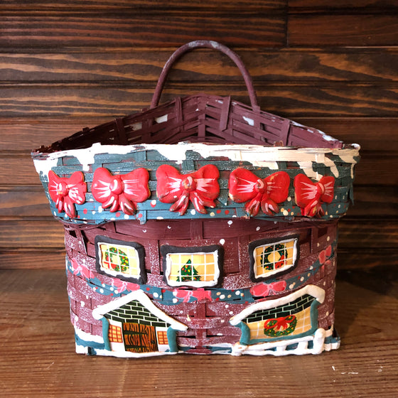 Woven Painted Christmas Basket