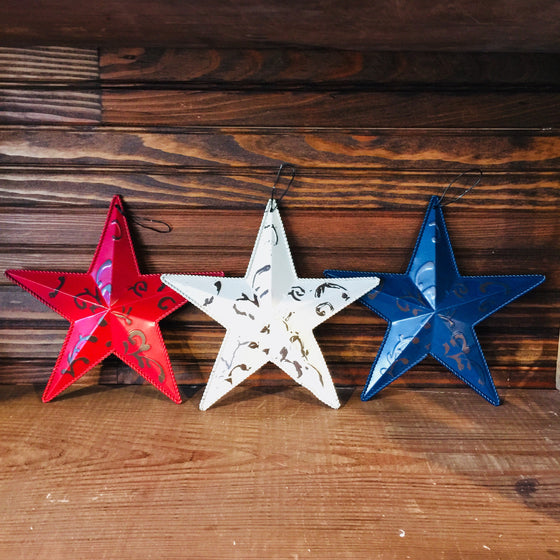 Tin Stars - Red, White & Blue