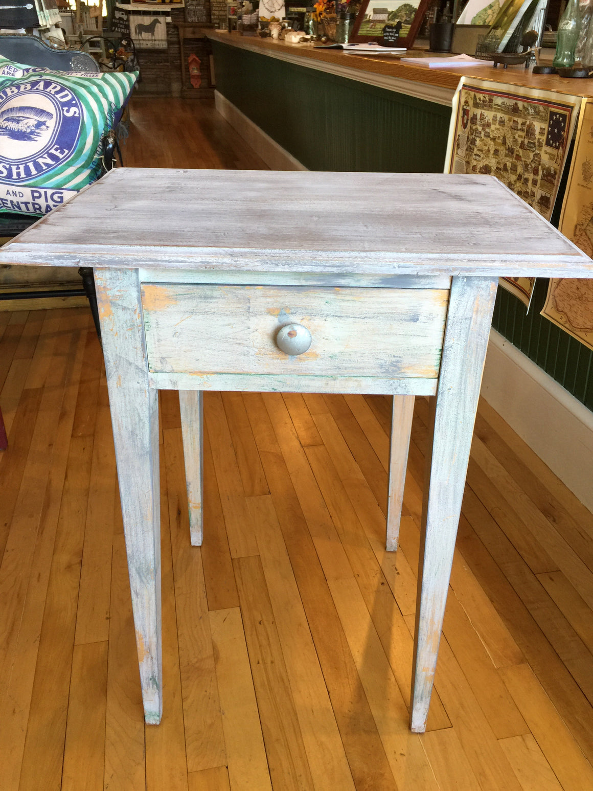 Refurbished Small Rustic Table w/ Drawer