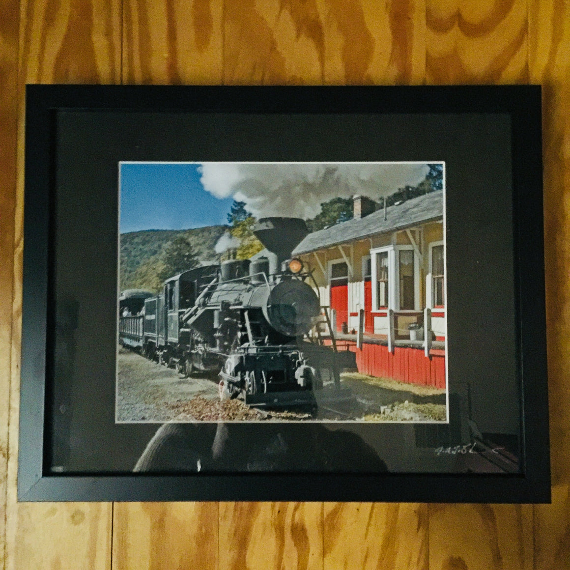 "Framed Photograph by James DeBuchananne - ""Locomotive"""