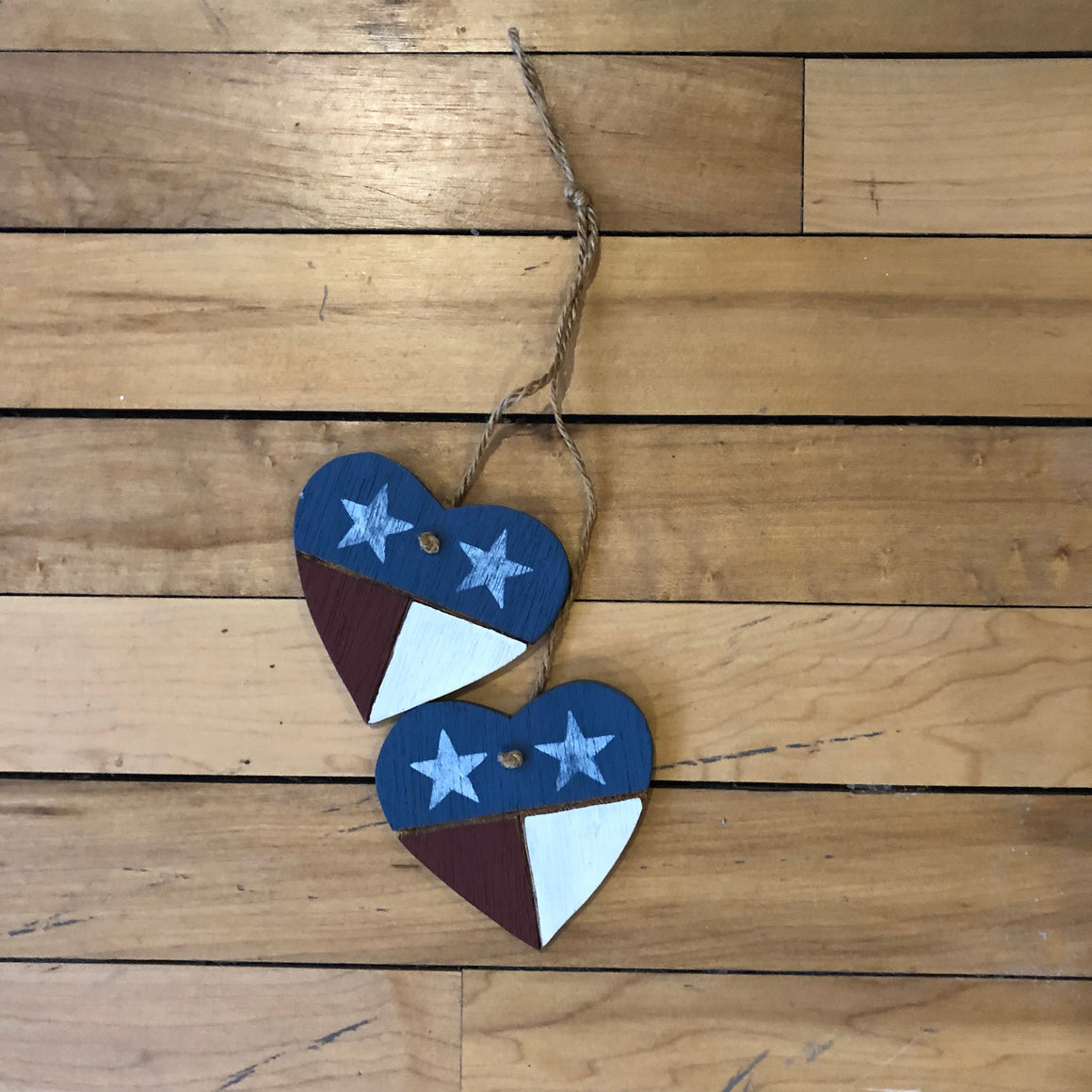 Hanging Patriotic Heart Decoration