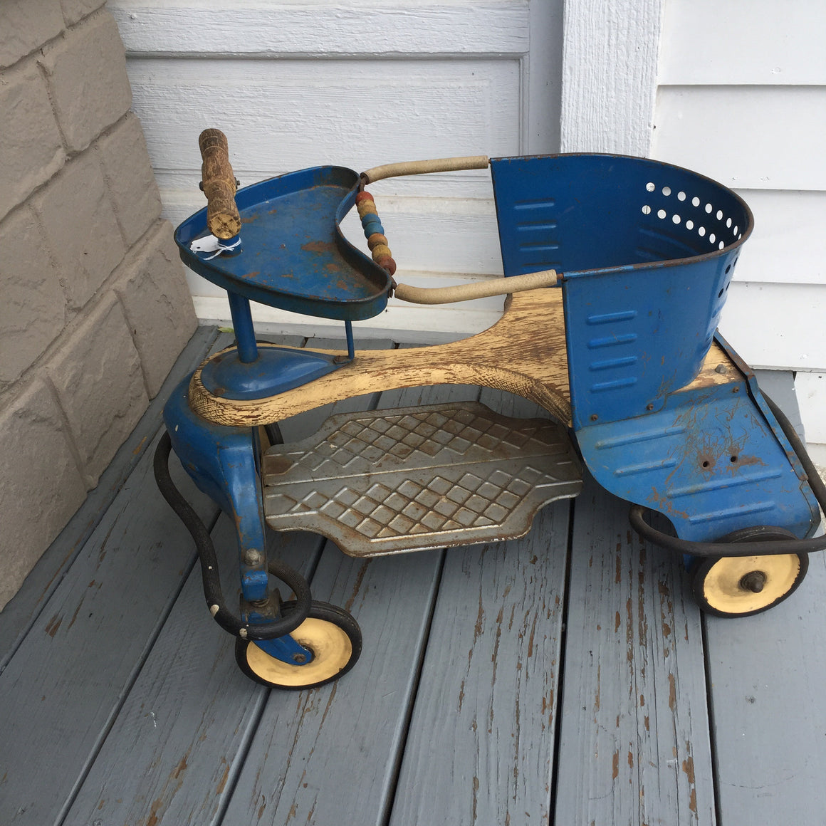 Blue Antique Toddler Scooter