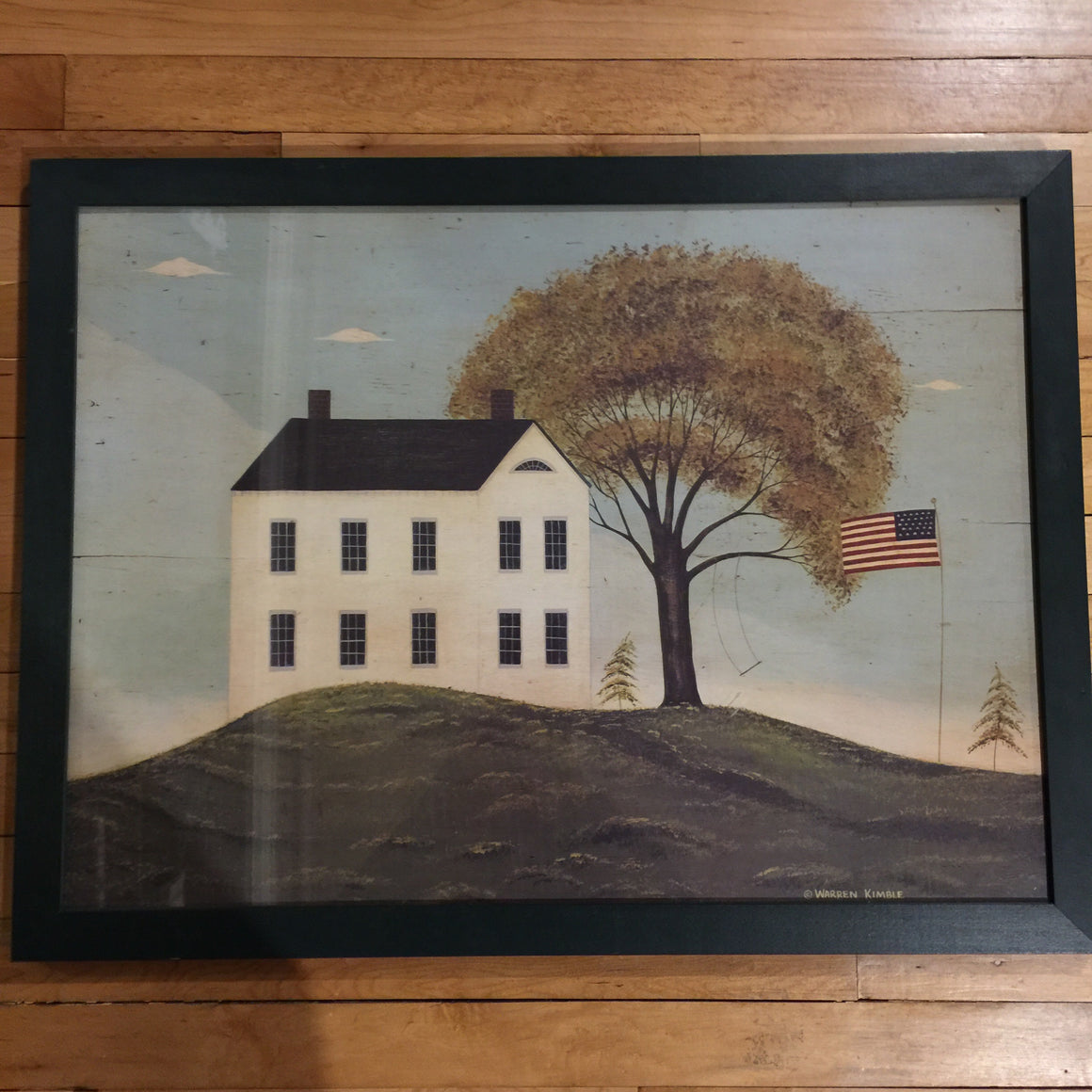 Framed Print - Primitive Folk Art House