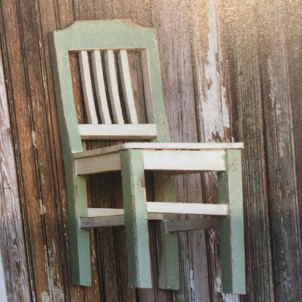 Miniature Chair - Low back - Pale Green