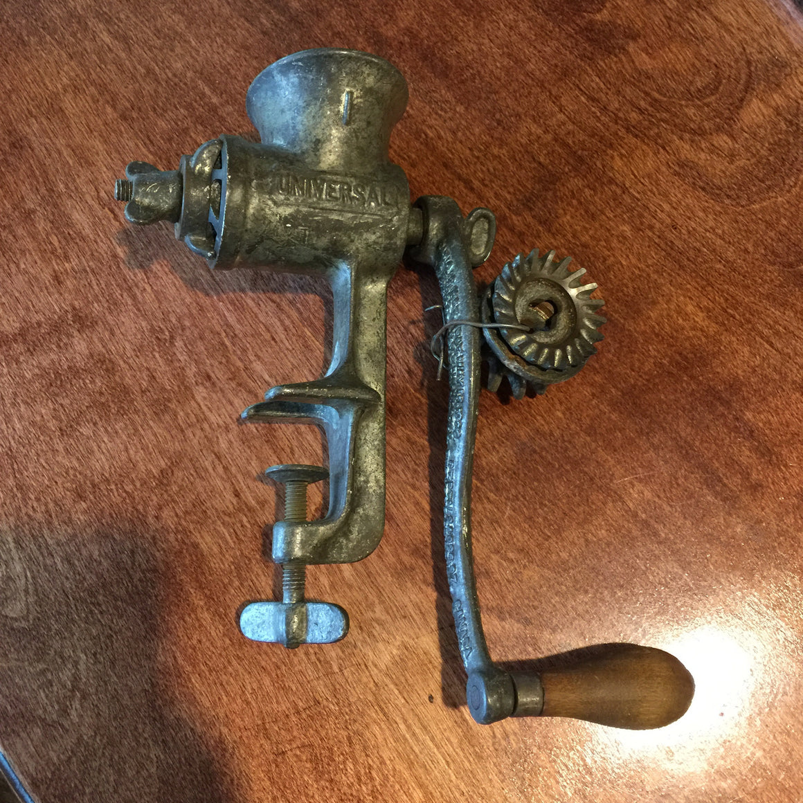 Vintage Universal Meat Grinder w/ additional gears
