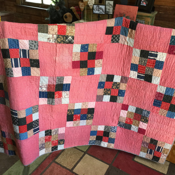 Antique Quilt (mostly Pink)