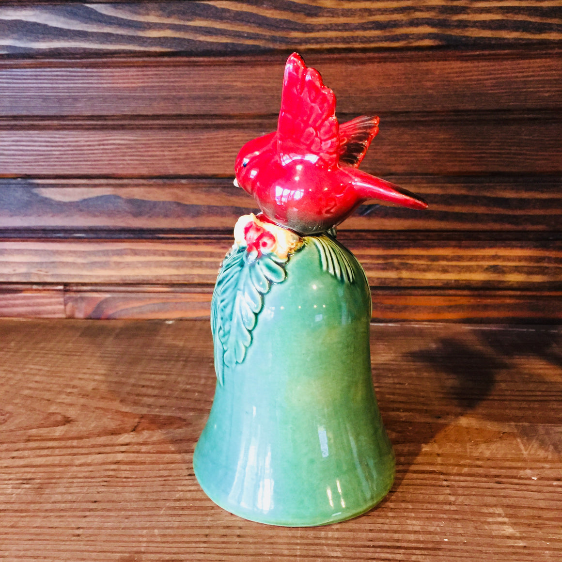 Ceramic Christmas Bell with Cardinal