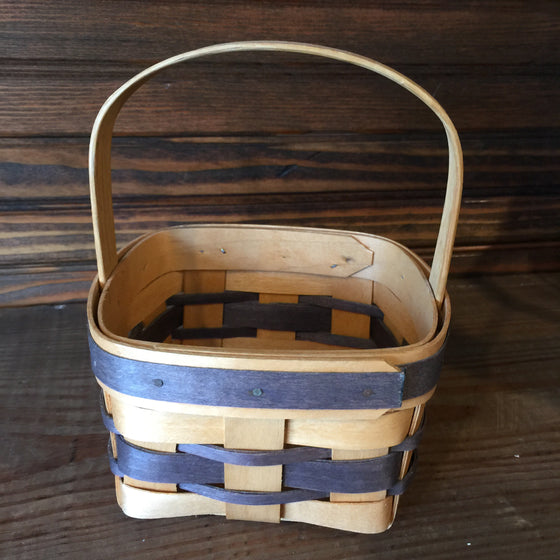 Basket - Small Square Basket with fixed handle