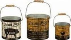 Metal Buckets - Farm Boy Pails