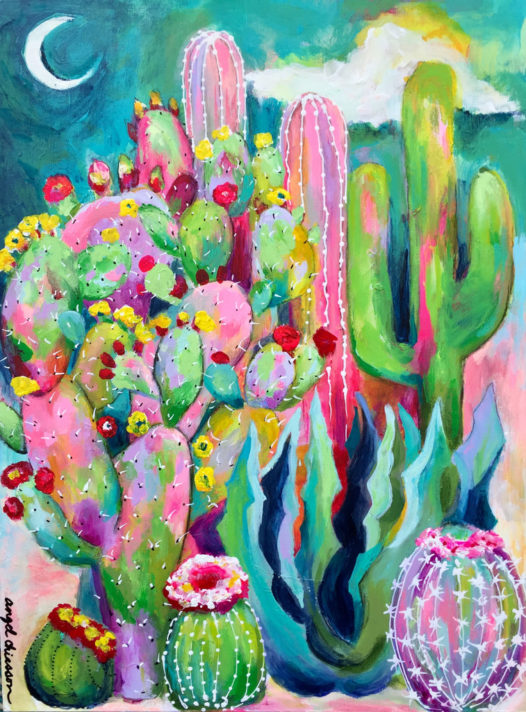 Cactus day and night