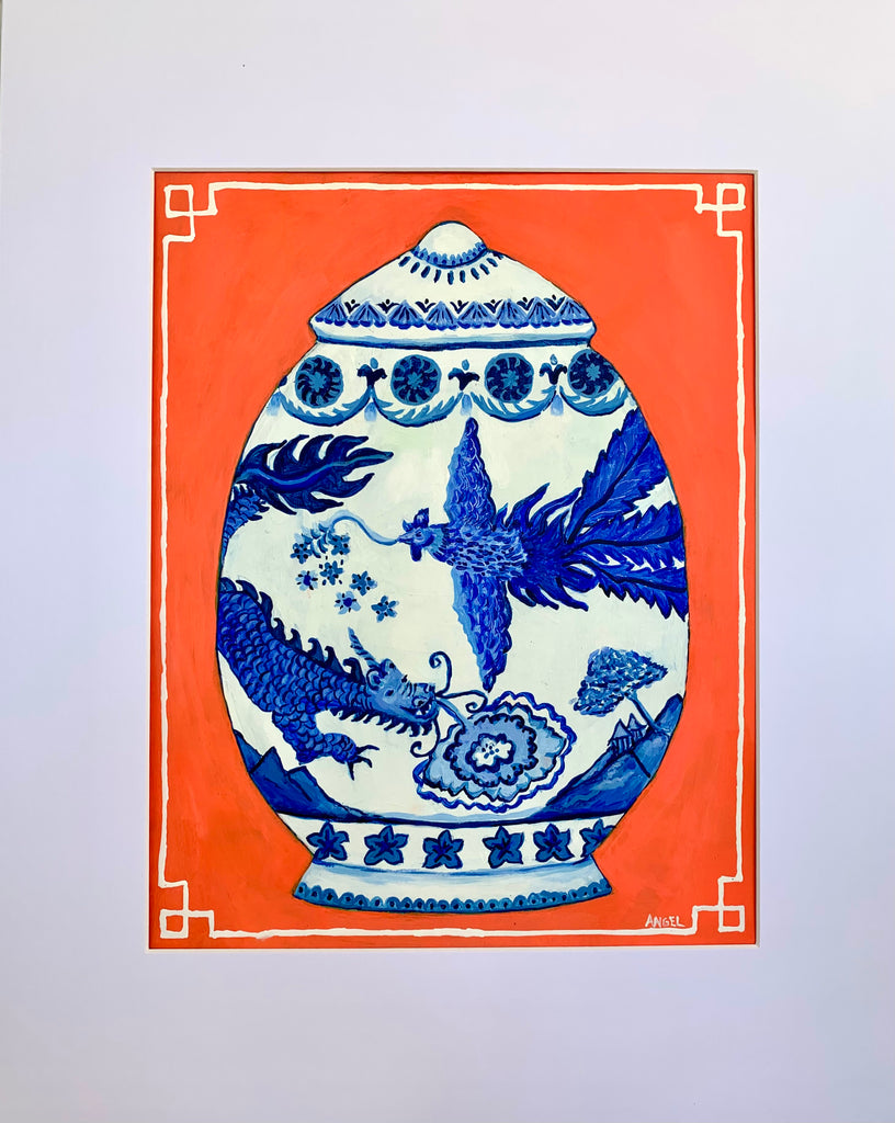 Dragon Chinoiserie Jar