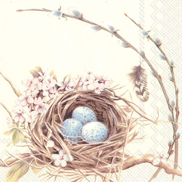 Lunch Napkin ~ Bird Nest and Eggs