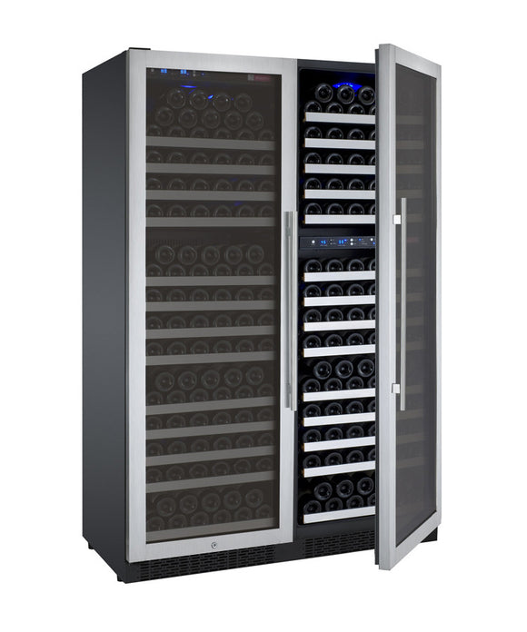 Allavino FlexCount Series 349 Bottle Three-Zone Side by Side Wine Refrigerator 3Z-VSWR7772-SST - Wine Cooler City