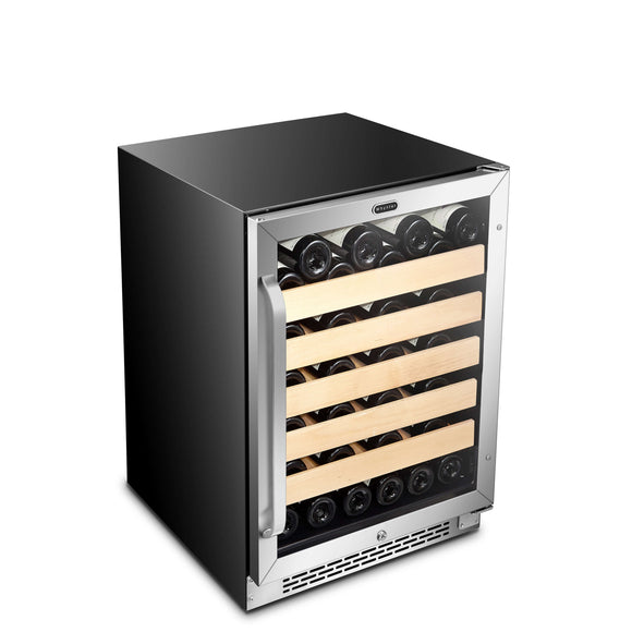 Whynter 24″ Built-In Stainless Steel 54 Bottle Wine Refrigerator Cooler - BWR-541STS - Wine Cooler City