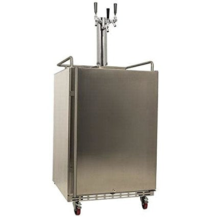 EdgeStar Full Size Triple Tap Built-In Outdoor Kegerator - KC7000SSODTRIP - Wine Cooler City