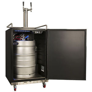 EdgeStar Full Size Dual Tap Kegerator - KC7000BLTWIN - Black - Wine Cooler City