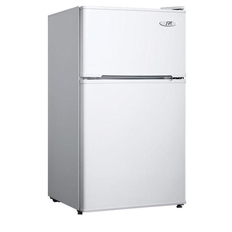 SPT 3.5 cu.ft. Double Door Refrigerator with Energy Star - White - RF-354W - Wine Cooler City