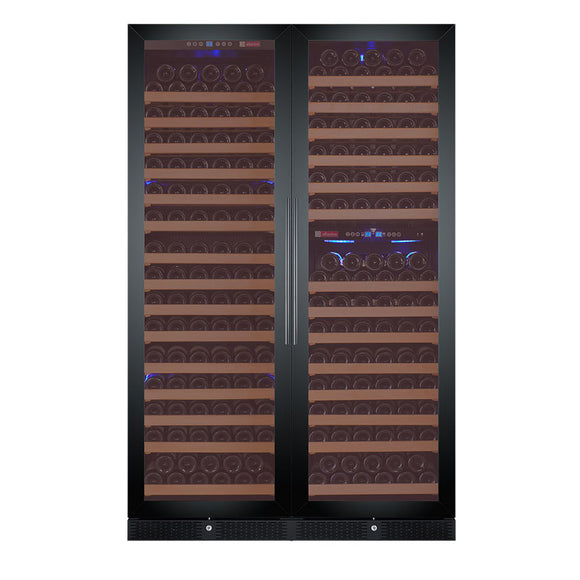 Allavino Flex Count Series 346 Bottle Three-Zone Wine Cooler with Black Doors 3Z-YHWR7274-BW - Wine Cooler City