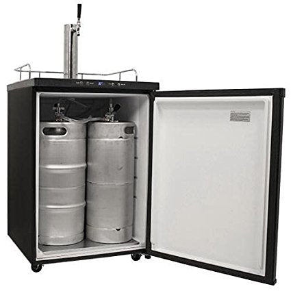Edgestar 24 Inch Wide Kegerator with Digital Display for Full Size Kegs - KC3000 - Wine Cooler City