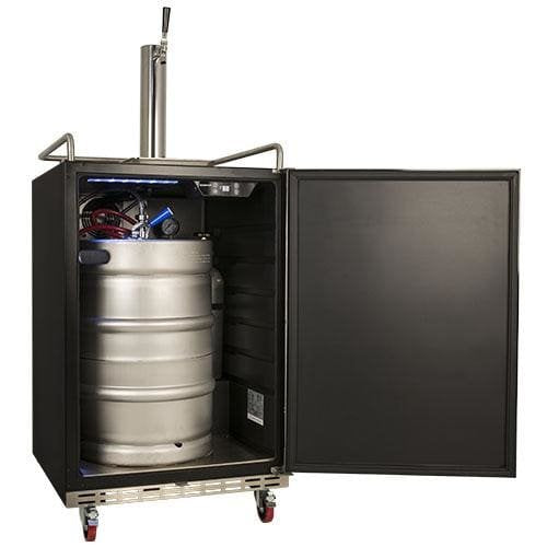 Edgestar 24 Inch Wide Kegerator for Full Size Kegs with Electronic Control Panel - KC7000BL - Wine Cooler City