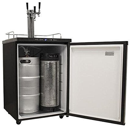 EdgeStar Full Size Triple Tap Kegerator with Digital Display - KC3000TRIP - Black - Wine Cooler City