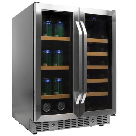 EdgeStar 24 Inch Built-In Wine and Beverage Cooler with French Doors - CWB1760FD - Wine Cooler City