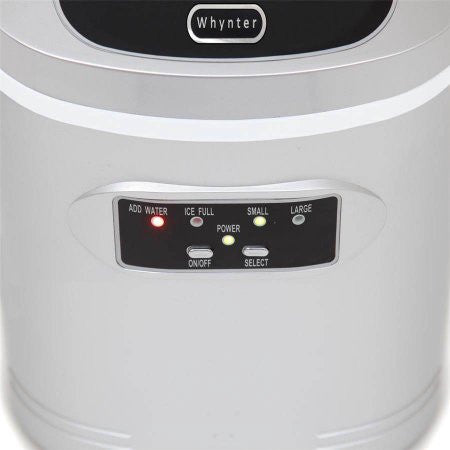 Whynter Compact Portable Ice Maker 27 lb capacity – Metallic Silver IMC-270MS - Wine Cooler City
