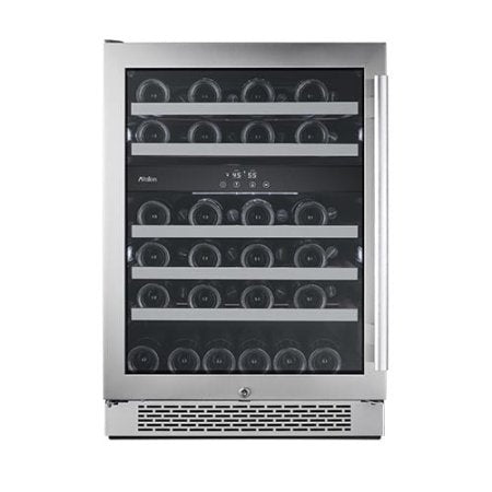 Avallon AWC241DZLH 24 Inch Wide 46 Bottle Capacity Dual Zone Wine Cooler with Left Hinge - Wine Cooler City