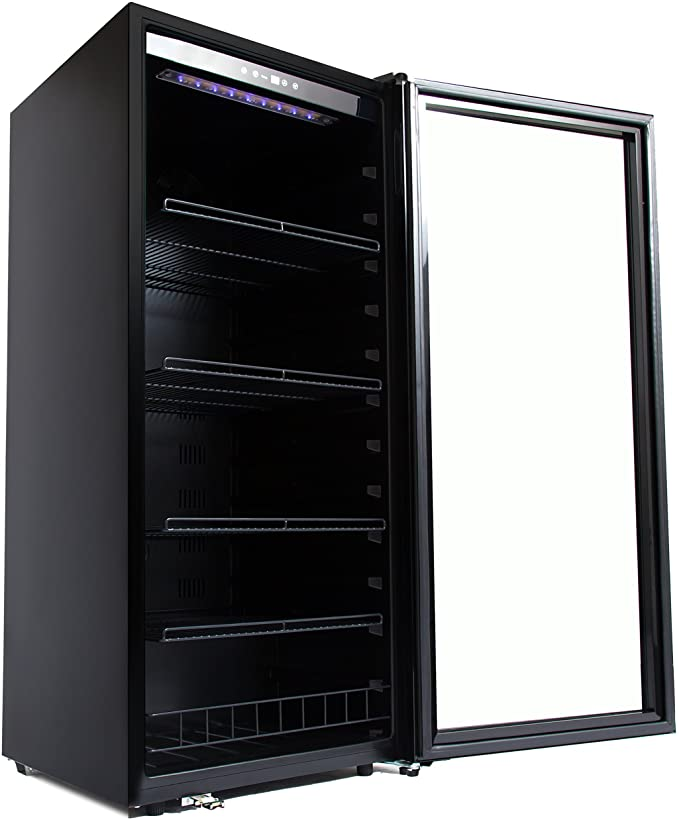 Whynter 124 Bottle Freestanding Wine Refrigerator - FWC-1201BB - Wine Cooler City