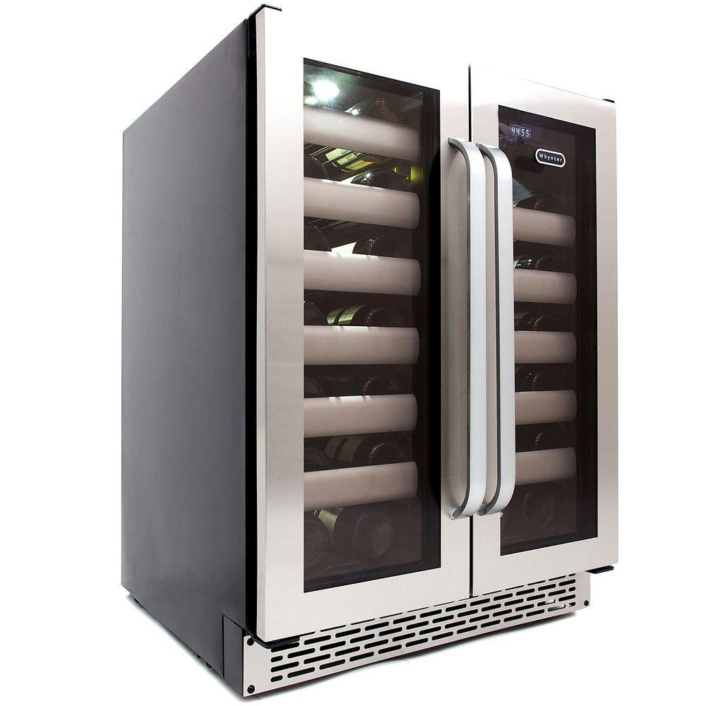built in wine fridge. Whynter Elite 40-Bottle Seamless Stainless Steel Door Dual Zone Built-In Wine Refrigerator Built In Fridge E
