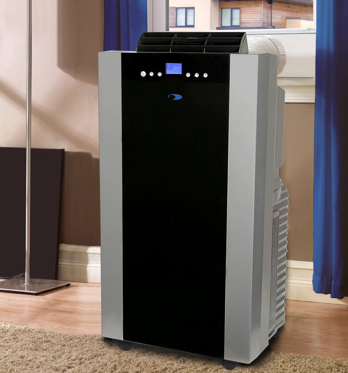 Whynter Eco-friendly 14000 BTU Dual Hose Portable Air Conditioner with Heater - ARC-14SH