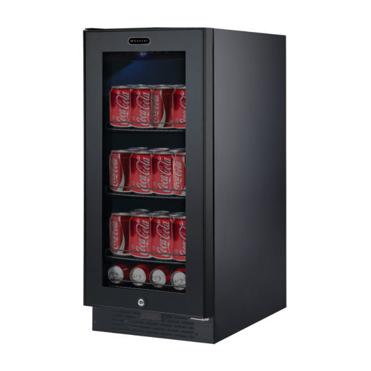 Whynter Built-in Black Glass 80-can capacity 3.4 cu ft. Beverage Refrigerator BBR-801BG - Wine Cooler City