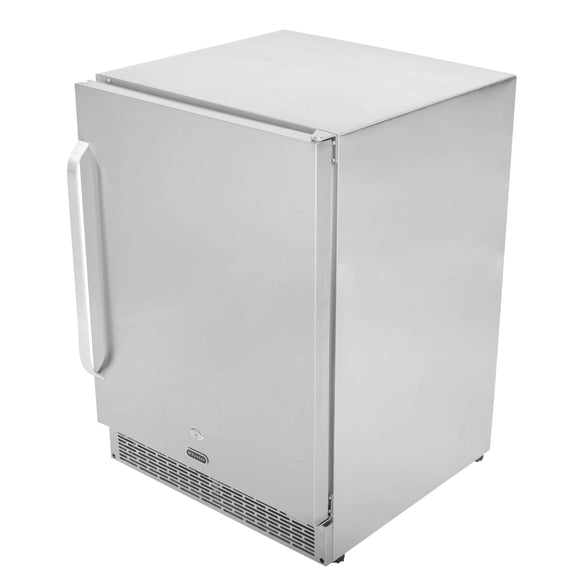 Whynter 24″ Built-in Outdoor 5.3 cu.ft. Beverage Refrigerator Cooler Full Stainless Steel Exterior with Lock and Optional Caster Wheels - BOR-53024-SSW