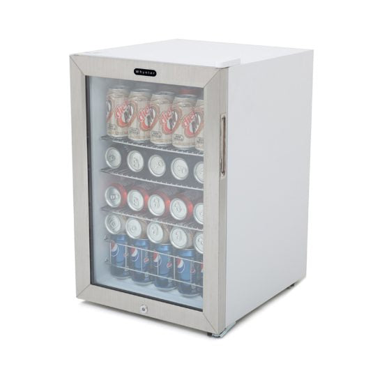 Whynter Beverage Refrigerator With Lock – Stainless Steel 90 Can Capacity BR-091WS