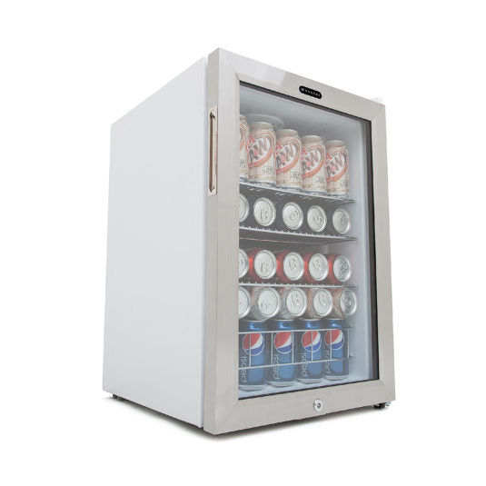 Whynter Beverage Refrigerator With Lock – Stainless Steel 90 Can Capacity BR-091WS - Wine Cooler City