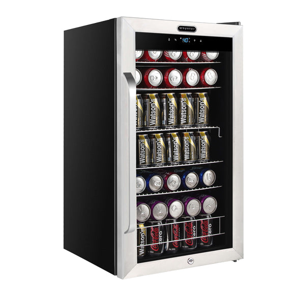 Whynter Freestanding 121 Can Beverage Refrigerator with Digital Control and Internal Fan - BR-1211DS - Wine Cooler City