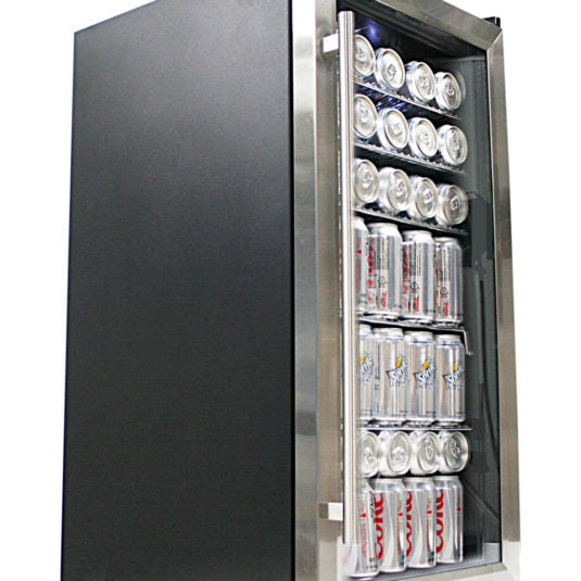Whynter Beverage Refrigerator – Stainless Steel BR-125SD - Wine Cooler City