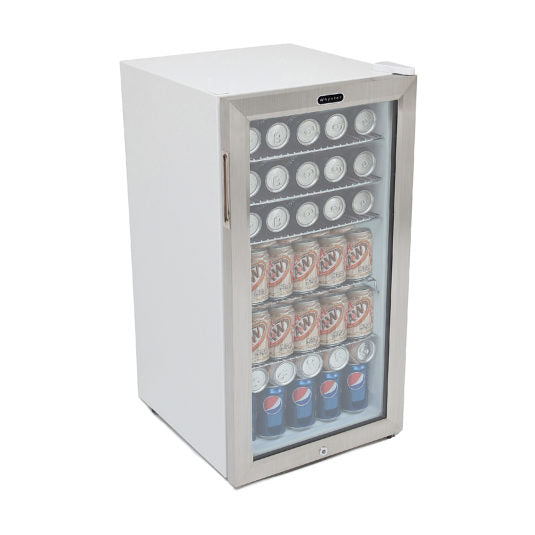 Whynter Beverage Refrigerator With Lock – Stainless Steel 120 Can Capacity BR-128WS - Wine Cooler City