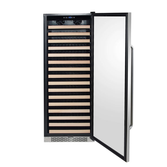 Whynter 166 Bottle Built-in Stainless Steel Compressor Wine Refrigerator with Display Rack and LED display - BWR-1662SD - Wine Cooler City