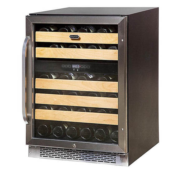 Whynter 46-Bottle Dual Temperature Zone Built-In Wine Refrigerator - BWR-462DZ - Wine Cooler City