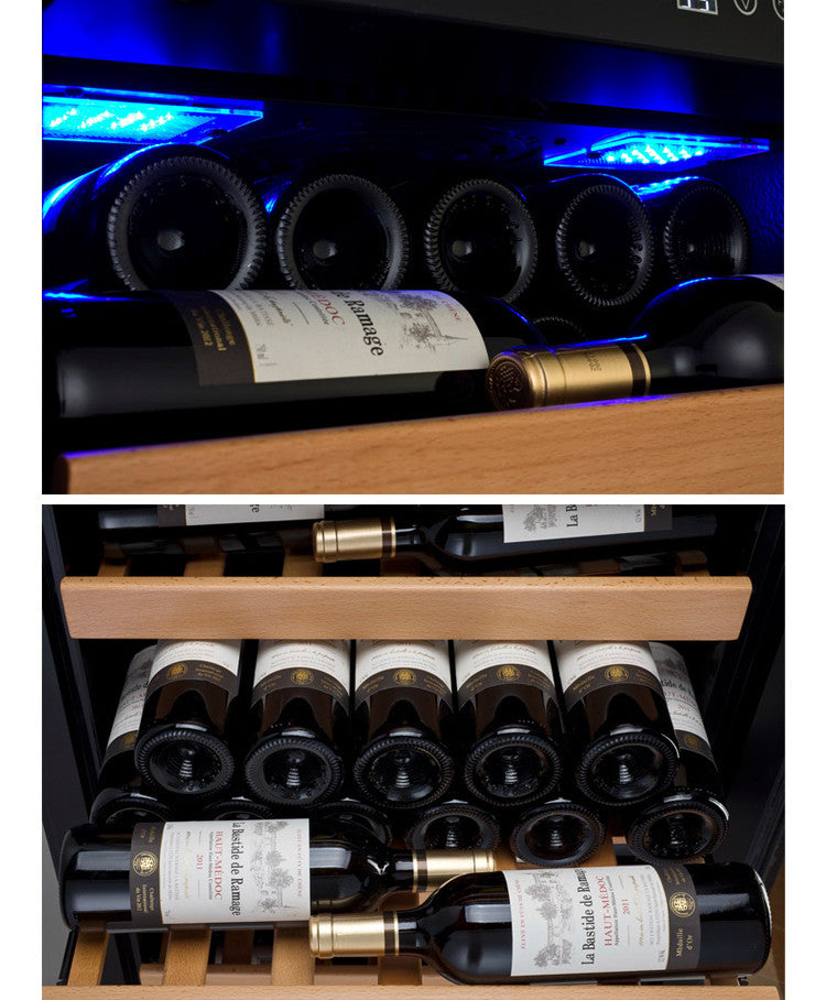 Allavino Wine Cooler Refrigerator - 115 Bottle Capacity - Black Door with Hinge On Right YHWR115-1BRN - Wine Cooler City