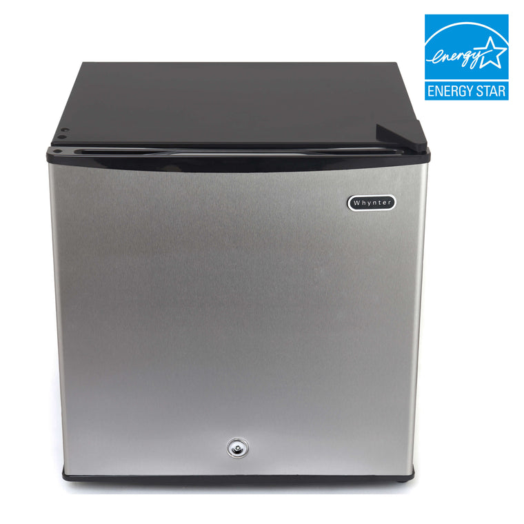 Whynter 1.1 cu. ft. Energy Star Upright Freezer with Lock – Stainless Steel - CUF-112SS