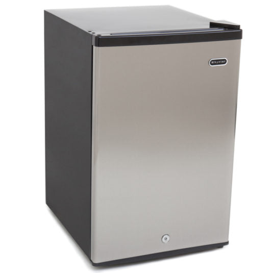 Whynter 2.1 cu. ft. Energy Star Stainless Steel Upright Freezer with Lock CUF-210SS - Wine Cooler City