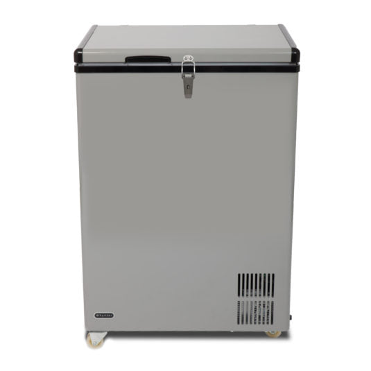 Whynter 95 Quart Portable Wheeled Freezer with Door Alert and 12v Option – Gray FM-951GW