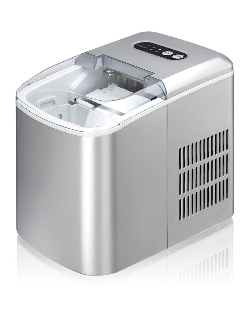 Sunpentown - IM-123S: Portable Ice Maker – Silver