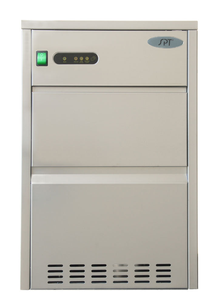 Sunpentown - 66 lbs Automatic Stainless Steel Ice Maker - IM-662C