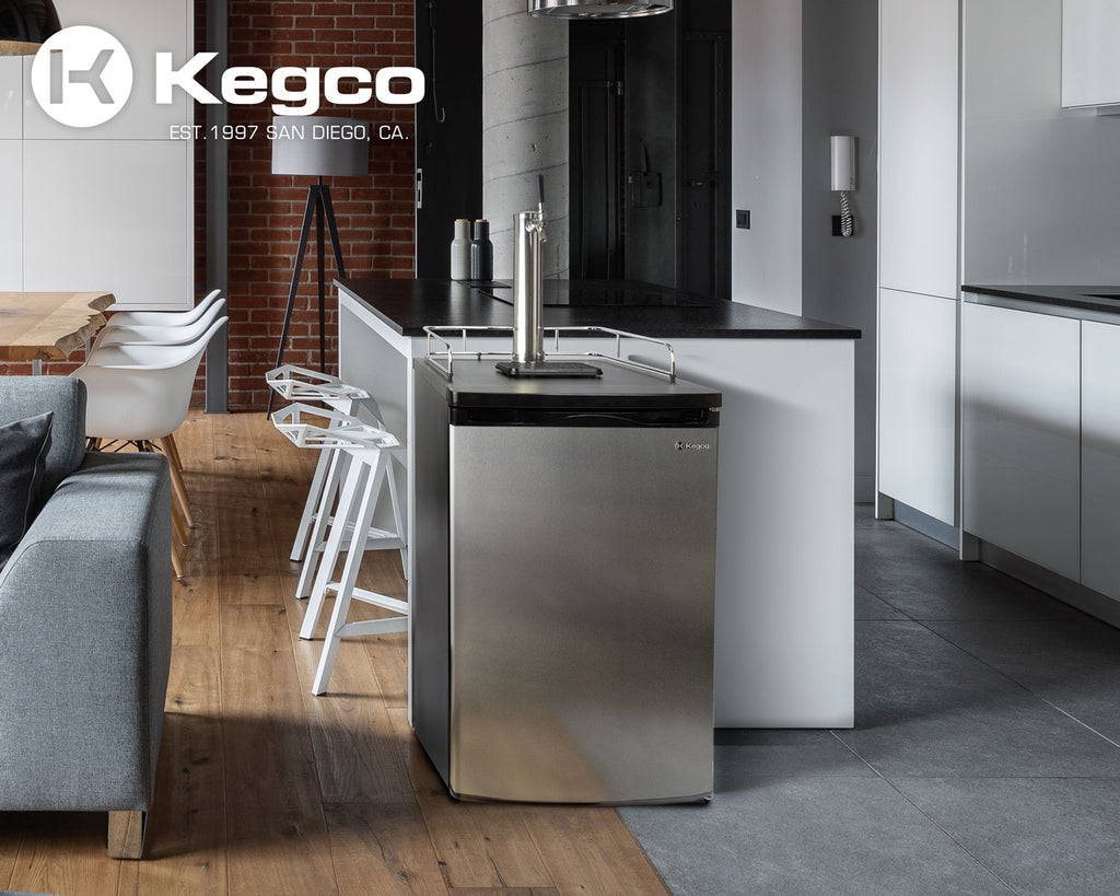 "Kegco 20"" Wide Single Tap Stainless Steel Kegerator - K199SS-1NK - Wine Cooler City"
